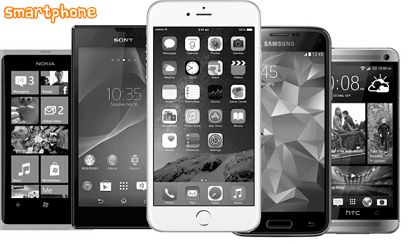 gambar dari alat komunikasi modern smartphone