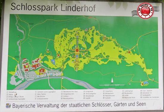 Mapa Palacio de Linderhof, Baviera, Alemania