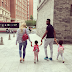 Mikel Obi & Girlfriend Olga Accompany Their Twin Daughters To Their First Day Of Nursery School