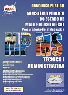 Apostila Ministério Público Mato Grosso do Sul - TÉCNICO ADM