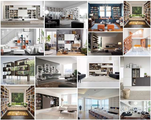 Home Libraries Designs For Sitting Rooms