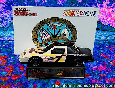Alan Kulwicki #7 Army 1991 Daytona 500 Support Our Troops Cars Military Racing Champions 1/64 NASCAR diecast blog