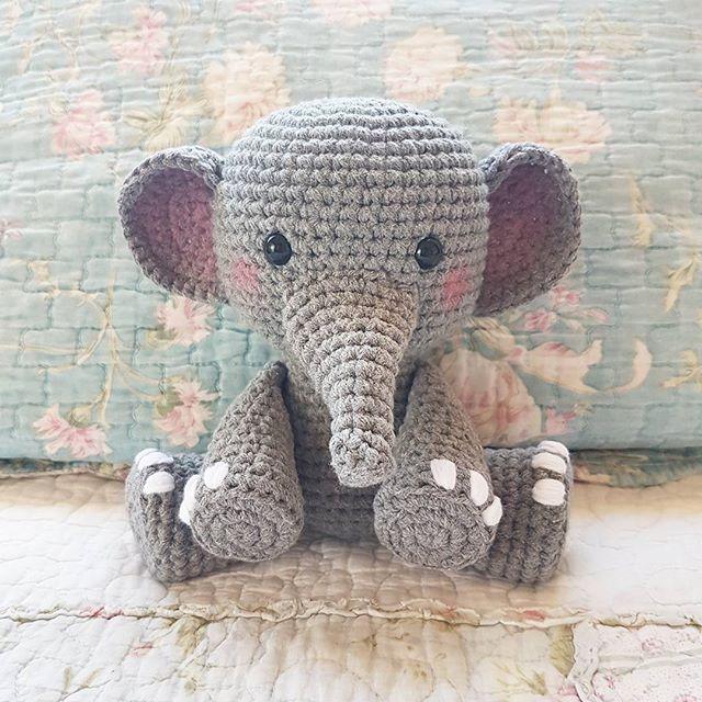 Elefante peluche, amigurumi de Two bee, patron gratis.Elephant Plush ...
