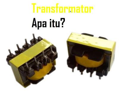 Pengertian Transformator - Pengertian Transformator adalah peralatan statis yang dimana terdiri dari rangkaian magnetik dan dua jenis atau lebih belitan. Secara induksi elektromagnetik, mentransformasikan daya (arus dan tengangan) sistem AC ke sistem arus dan tegangan lain pada suatu frekuensi yang sama.  Arti transformator atau disebut Trafo menggunakan prinsip elektromagnetik yakni dengan hukum-hukum ampere dan induksi faraday.  Demikian ini berarti bahwa terdapat perubahan arus atau medan listrik yang dapat membangkitkan suatu medan magnet dan perubahan medan magnet atau fluks medan magnet dapat membangkitkan adanya tegangan induksi.  Transformator secara luas baik digunakan dalam bidang tenaga listrik maupun elektronik. Dalam penggunaan transformator dalam sistem tenaga memungkinkan terpilihnya tegangan yang sesuai dan juga ekonomis bagi setiap keperluan contohnya, kebutuhan akan tegangan tinggi dalam pengiriman daya jarak jauh. Penggunaan transformator yang begitu sederhana dan andal adalah hal penting dalam pemakaiannya untuk menyalurkan tenaga listrik arus bolak-balik, olehnya itu arus bolak-balik sangat banyak difungsikan untuk membangkitkan dan penyaluran tenaga listrik.