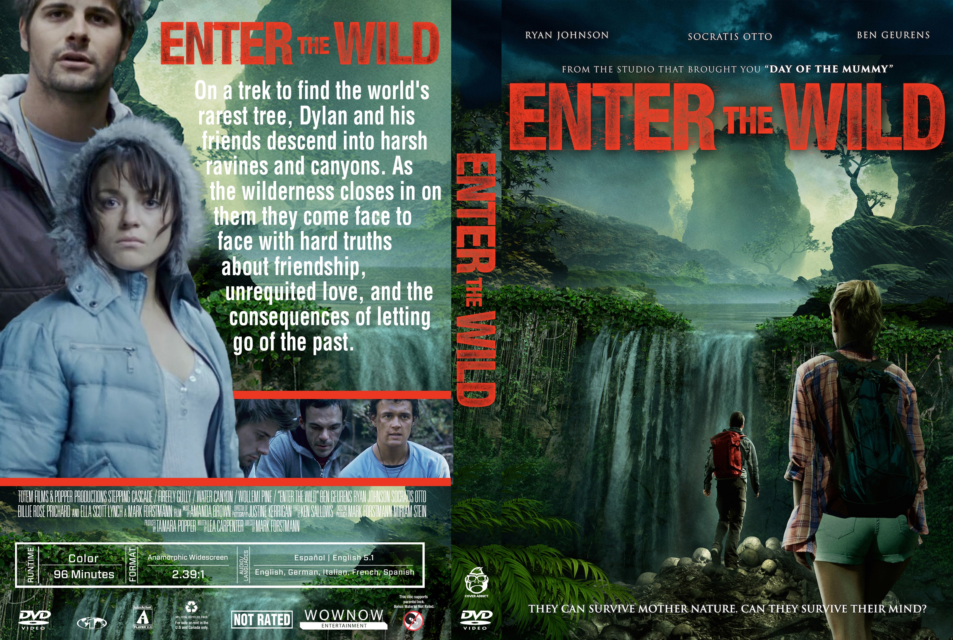 Enter The Wild DVD Cover | Cover Addict - Free DVD, Bluray ...
