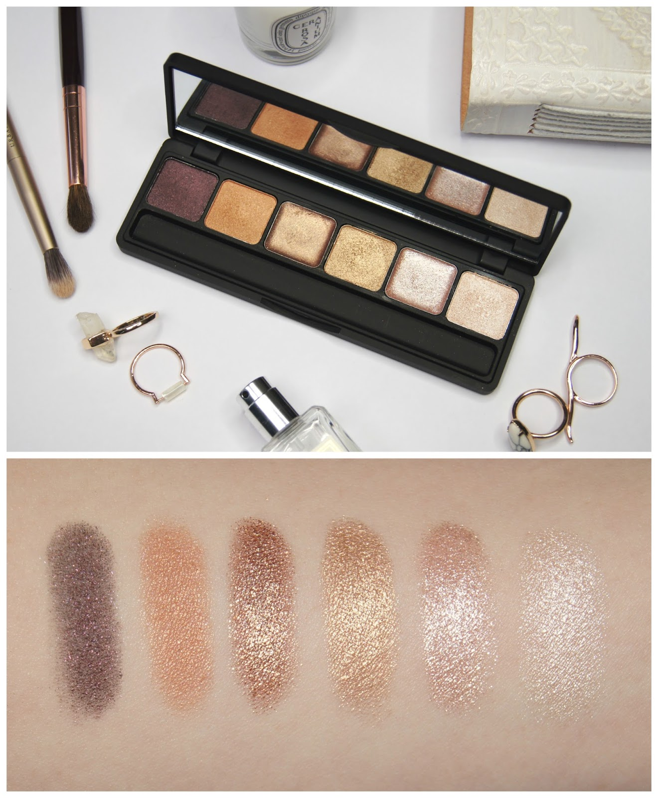 sleek ilust eyeshadow palette the gold standard review swatches