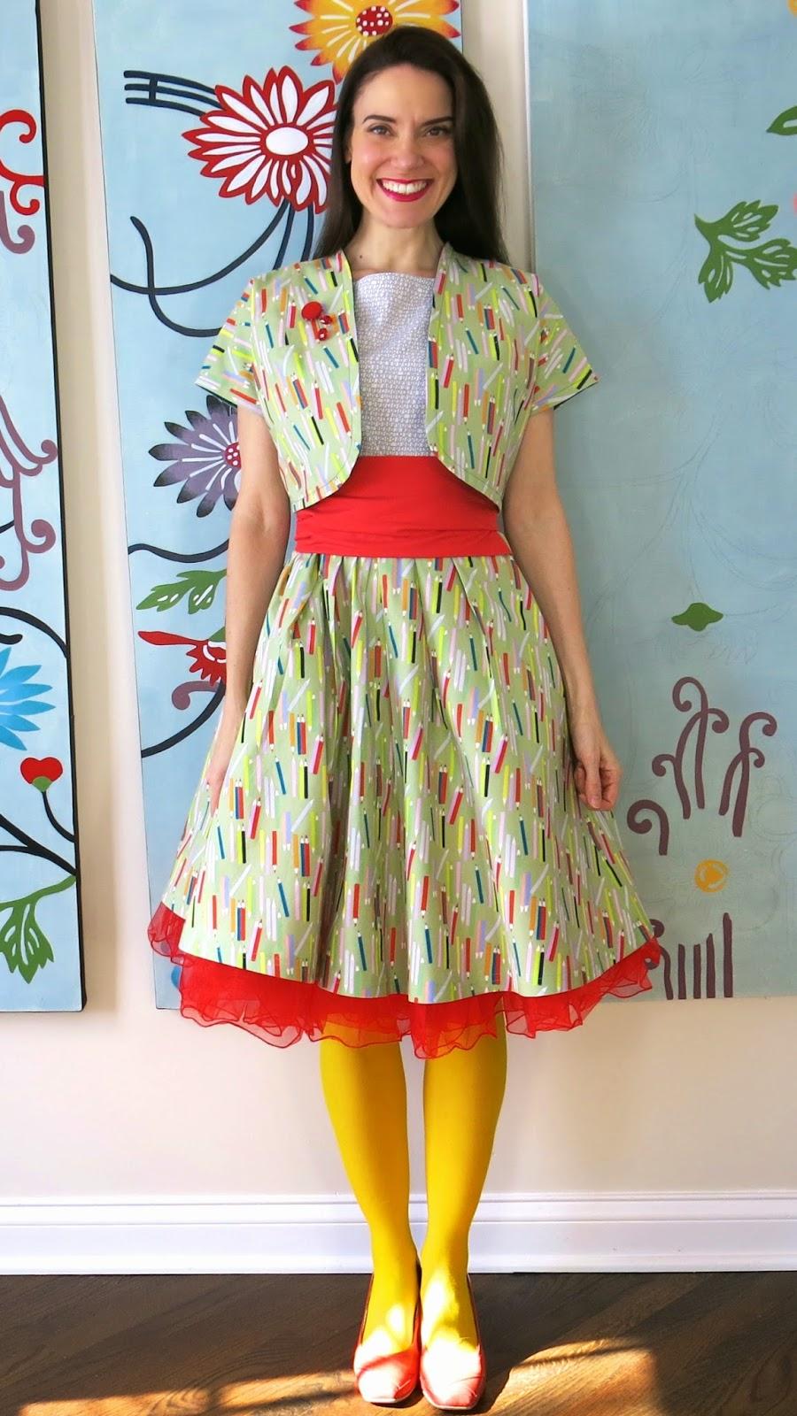 Cassie stephens how to dress like an art teacher diy a colored pencil dress and bolero many dif ways solutioingenieria Images