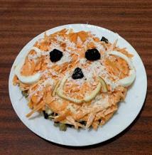 новогоднее оформление блюд обезьяна