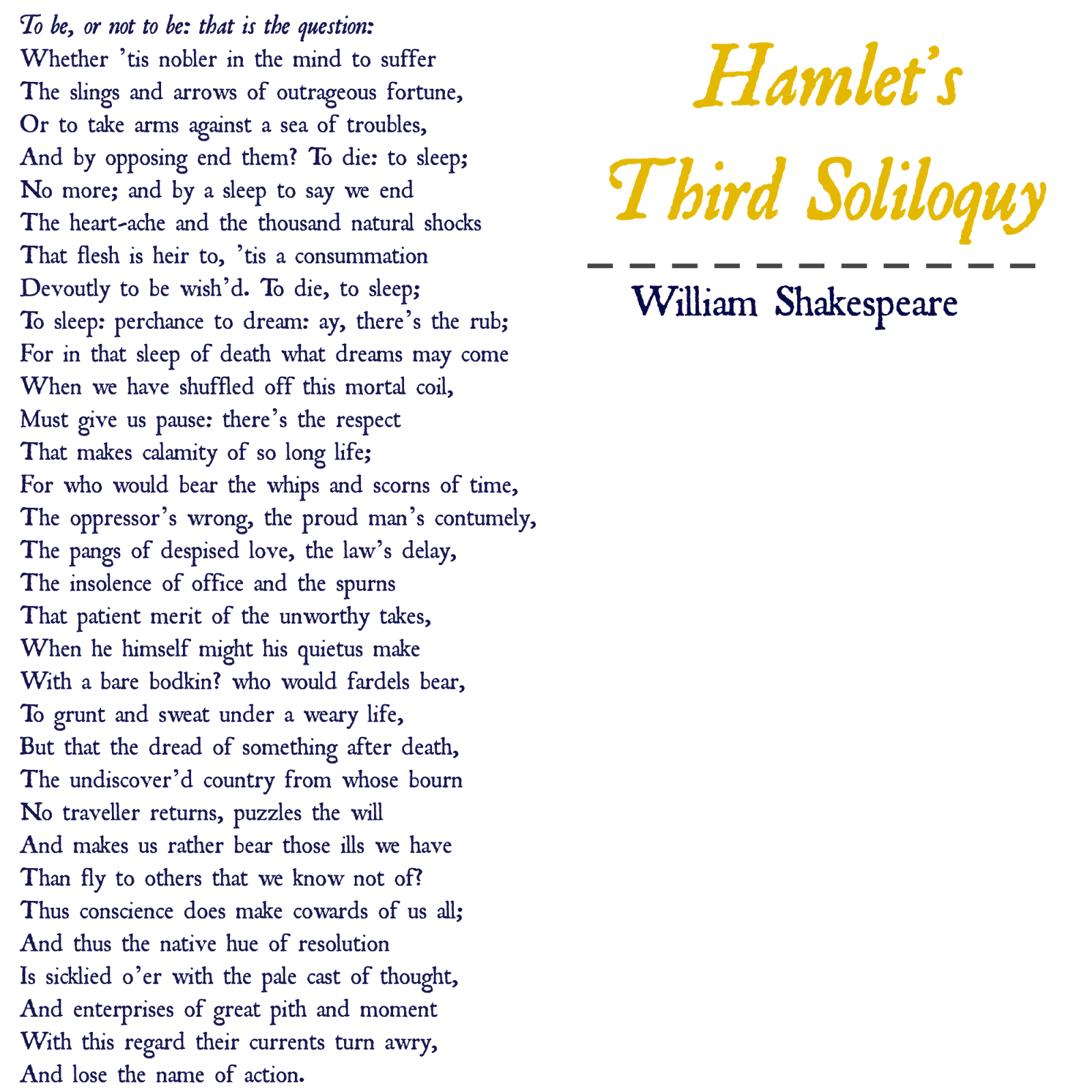 hamlet 7 soliloquies essay