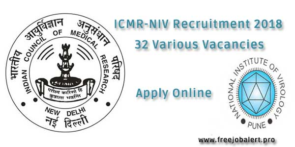 ICMR-NIV Recruitment 2018