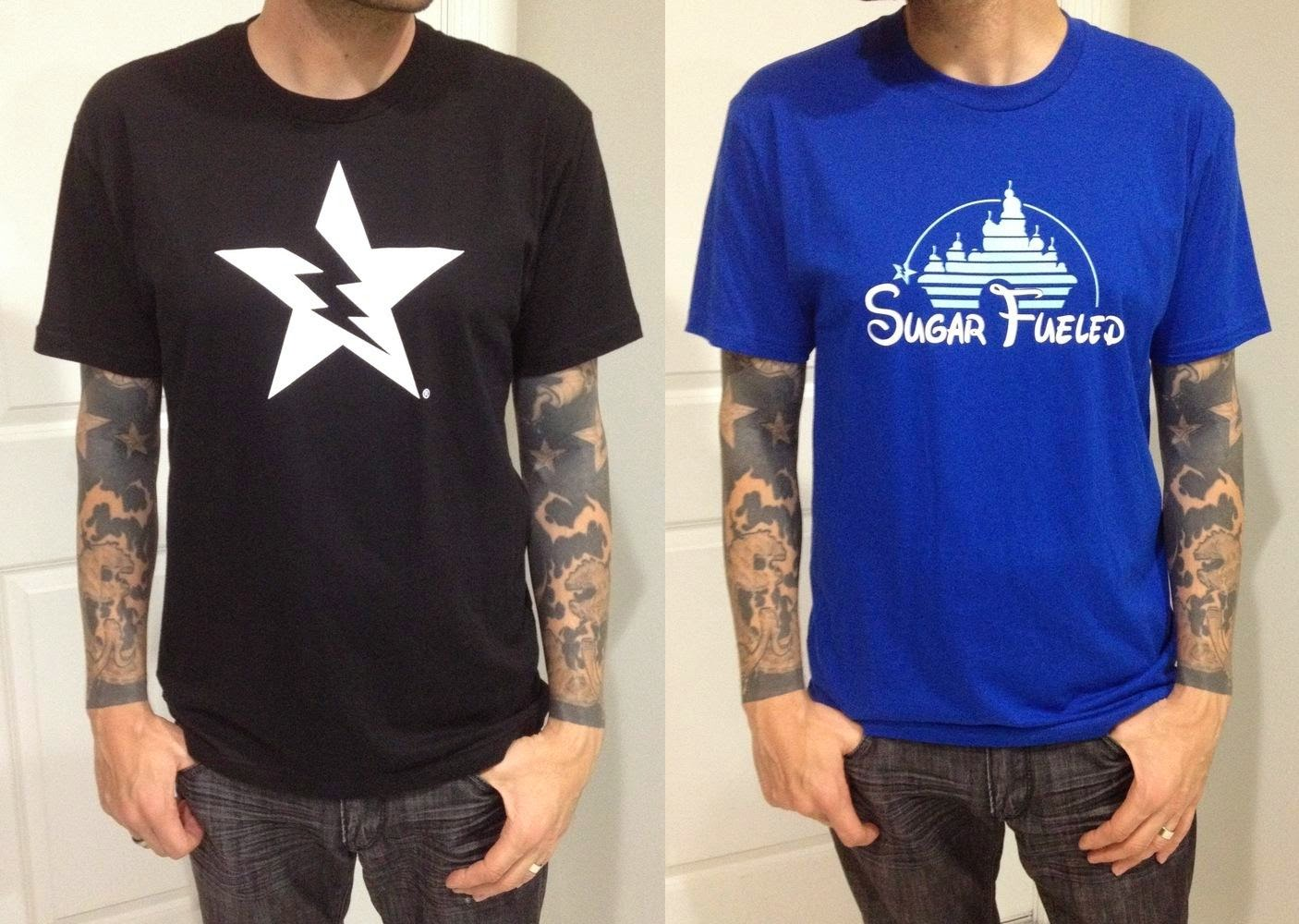 "Sugar Fueled T-Shirts by Michael Banks - ""Broken Star Logo"" & ""Ice Cream Castle"""