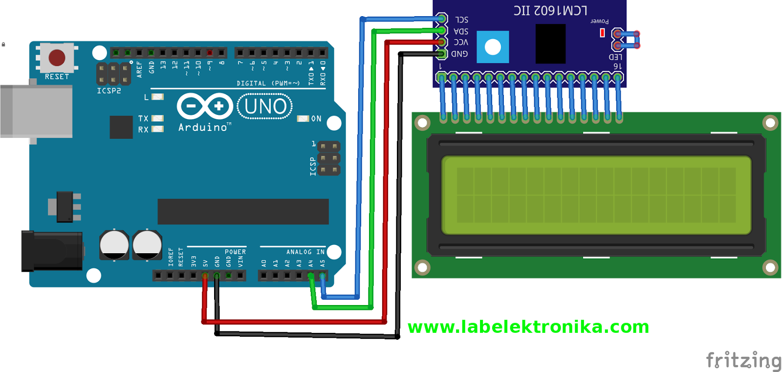 Lcd Display 16x2 Pin Diagram