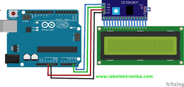 Wiring Diagram I2C LCD Karakter Arduino