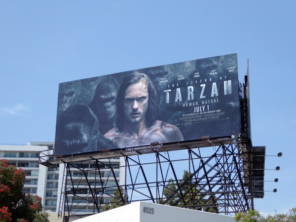 Legend Tarzan movie billboard