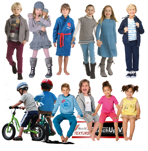children cut out collection pat.1