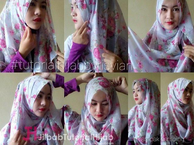 Tutorial Style Cara Memakai Hijab Pashmina Simple Sehari-hari Cantik Terbaru
