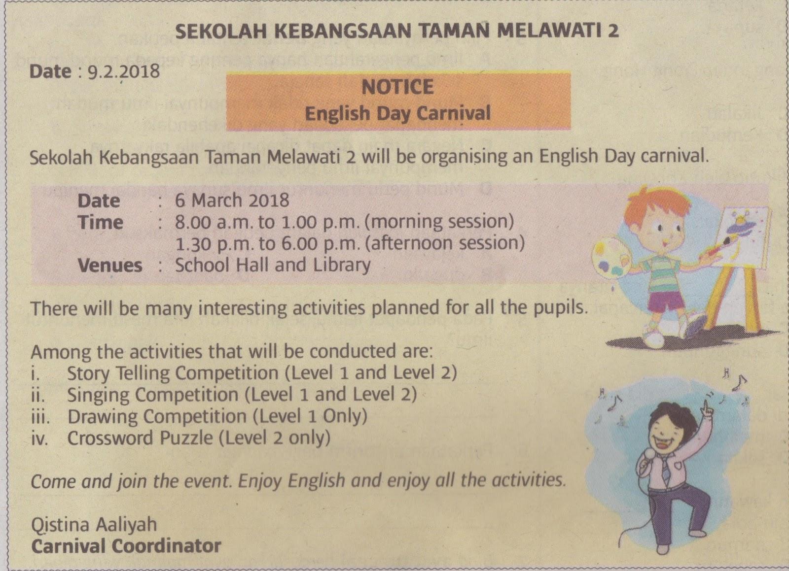 Learning English Daily Bahasa Inggeris Format Soalan Upsr Paper 2