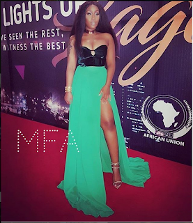 Victoria Kimani, Bonang Matheba, Osas, Others Flaunt Boobs At The Afrima2016