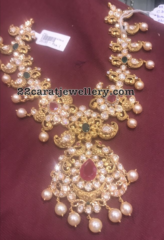 60 to 70 grams pachi necklaces jewellery designs