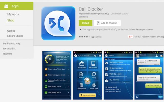 ـ Call Blocker لحجب المكالمات الواردة على هاتف أندرويد CallBlocker1-810x503