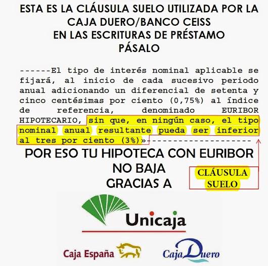 Manuel lancharro google for Hipoteca clausula suelo banco popular