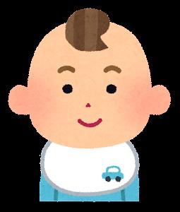 赤ちゃんの表情のイラスト(男・笑顔)