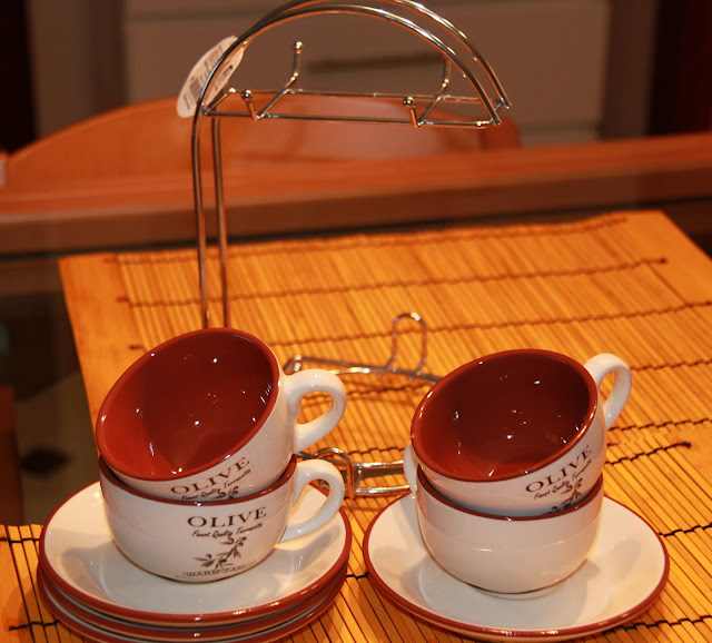 Juego de Café de 4 Servicios Mod. Olive - OUTLET