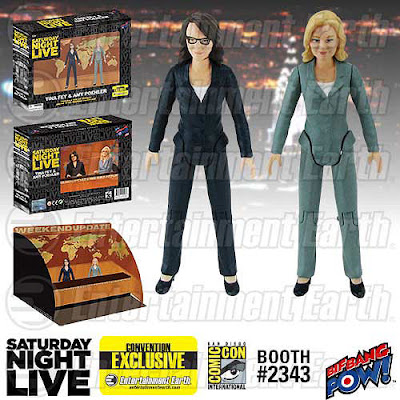 "San Diego Comic-Con 2015 Exclusive Saturday Night Live Weekend Update with Amy Poehler & Tina Fey 3½"" Action Figure Set by Bif Bang Pow!"