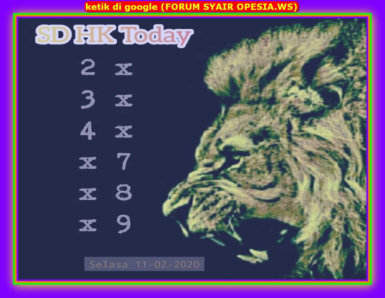 Kode syair Hongkong Selasa 11 Februari 2020 82