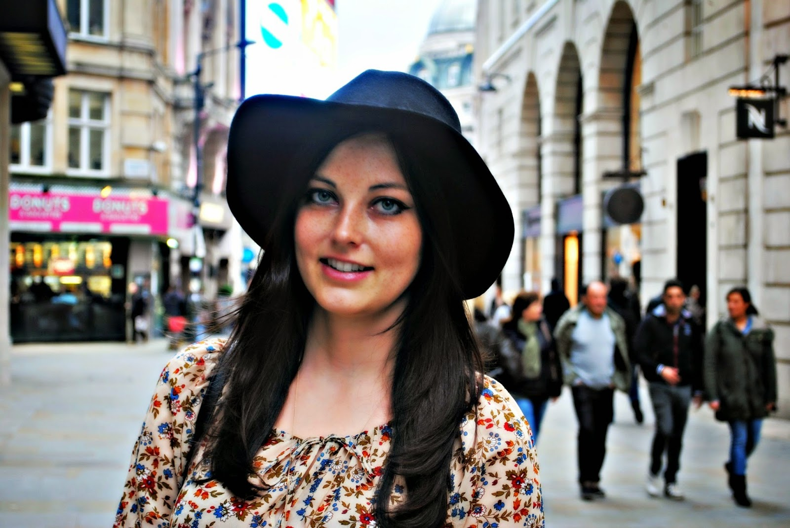 Stradivarius boho vintage blouse London fashion blogger ootd
