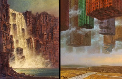28-Cataractopolis-and-Fifth-Avenue -Marcin-Kołpanowicz-Painting-Architecture-in-Surreal-Worlds-www-designstack-co