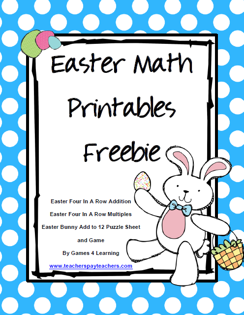 fun games 4 learning easter math and easter freebies. Black Bedroom Furniture Sets. Home Design Ideas
