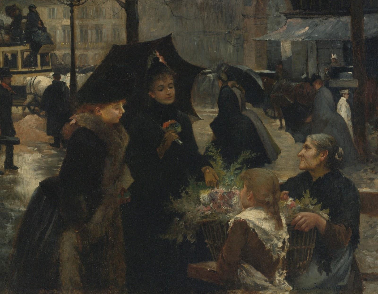 Immagini Belle Da Dipingere louis de schryver | the flower seller | la belle Époque