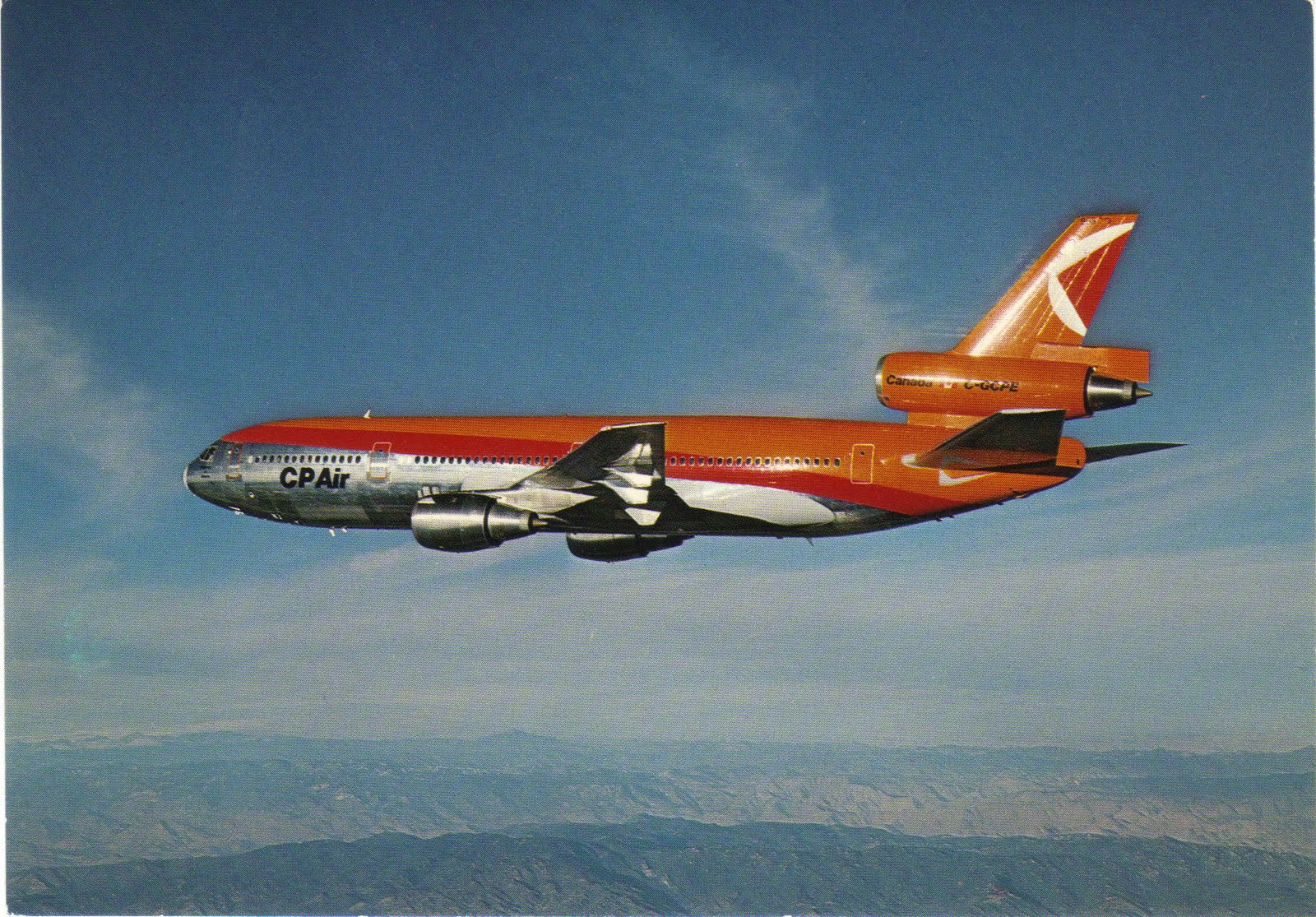 Airlines Past & Present: CP Air Aircraft Postcards