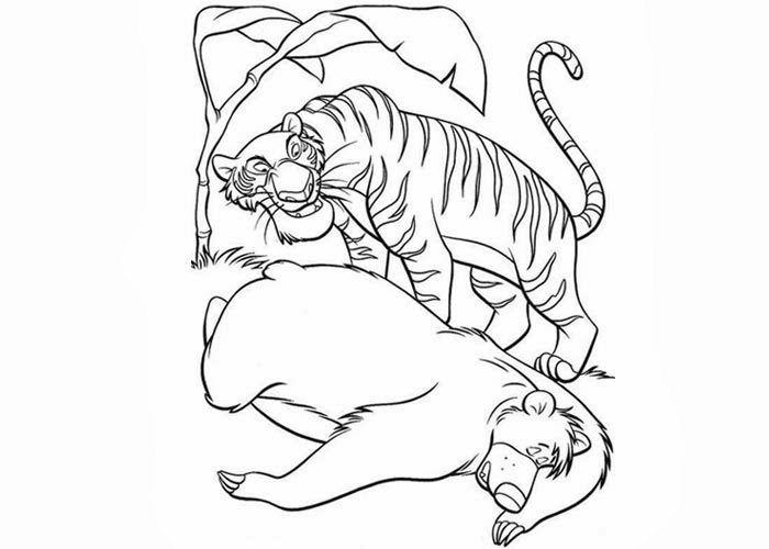 Baloo And Shere Khan Coloring Pages