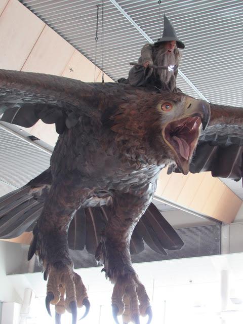 Figura de Gandalf en el aeropuerto Wellington