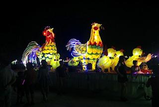 Mô hình đèn lồng của tổ19 phường Tân Quang