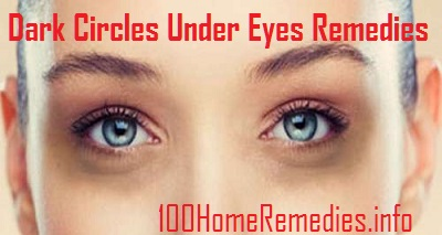Home treatment for dark circles under eyes