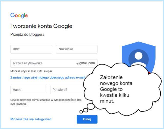Konto Google — tworzenie.
