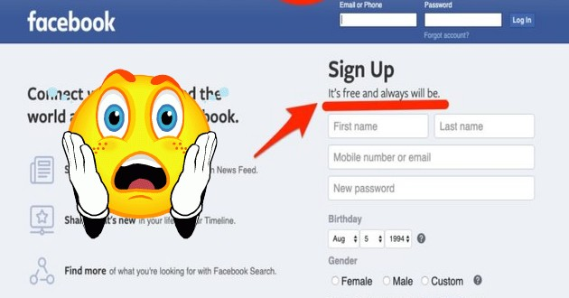 تحديثات جديدة فاليسبوك يلغي عبارة انه مجاني وسيظل دائماً من شعاره هل يصبح مدفوع ؟