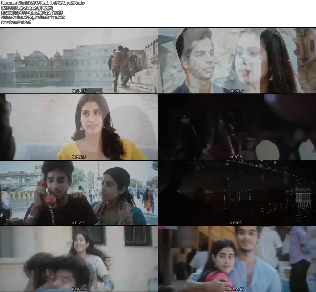 Dhadak 2018 Hindi PreDVDRip x264 Screenshot