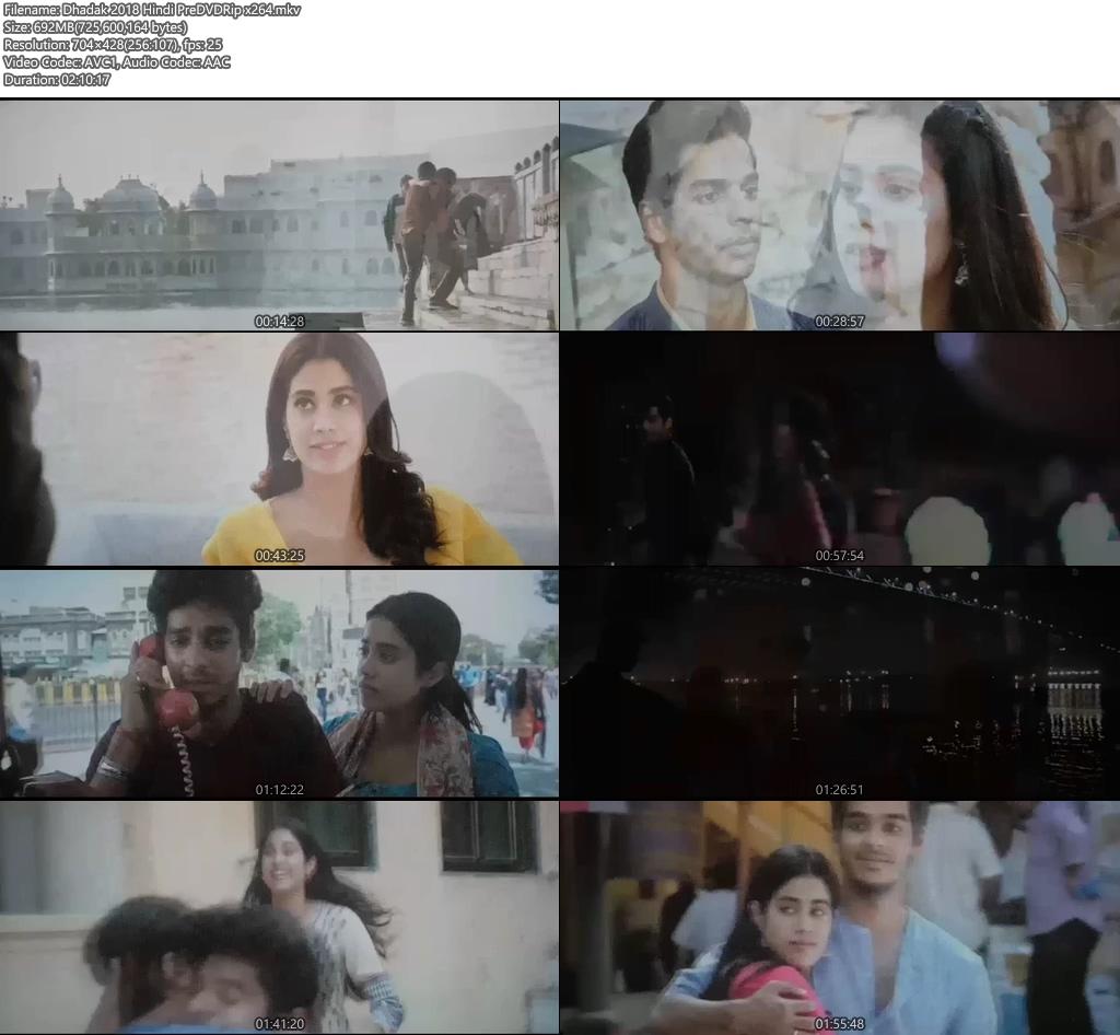 Dhadak 2018 Hindi PreDVDRip x264 Screenshot
