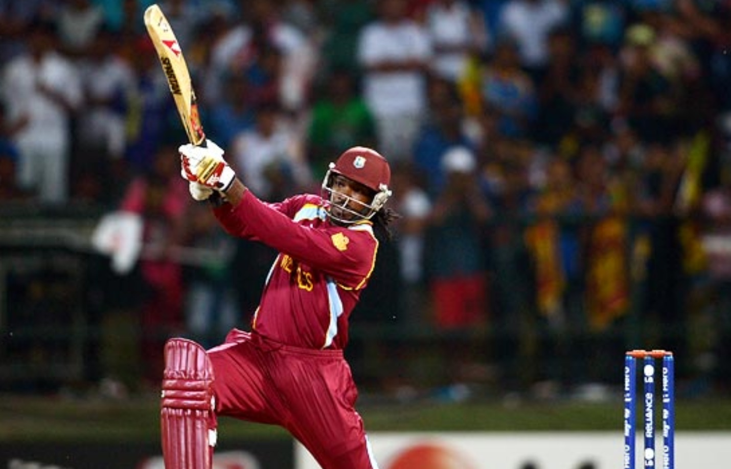 Chris Gayle scores 252 sixes in 275 matches