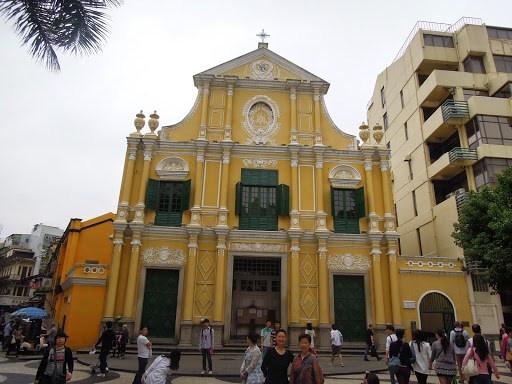 The facade of Sto. Domingo Church (St. Dominic Church) in Macau