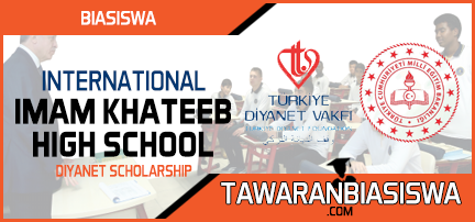 Tawaran Biasiswa International Imam Khatip High School Scholarship Program 2019