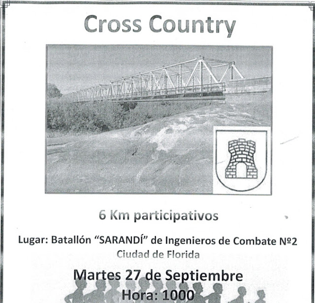 6k cross country en Batallón Sarandí (Florida, 27/sep/2016)
