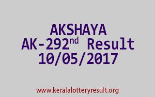 AKSHAYA Lottery AK 292 Results 10-5-2017