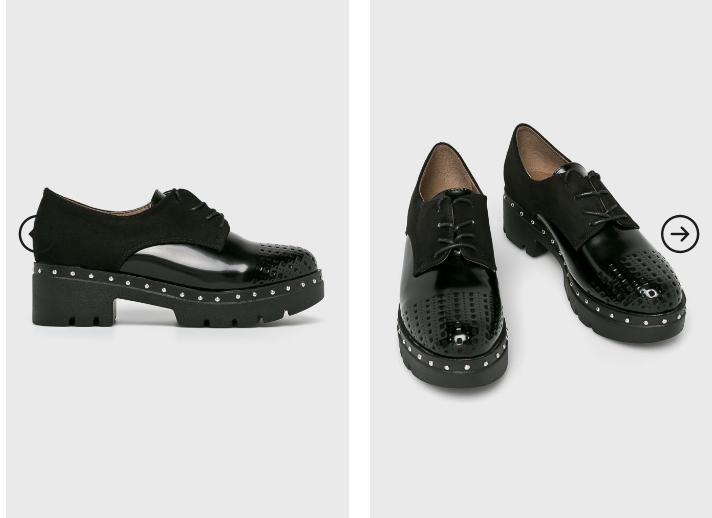 Answear - Pantofi casual dama la moda toamna 2018 piele lacuita