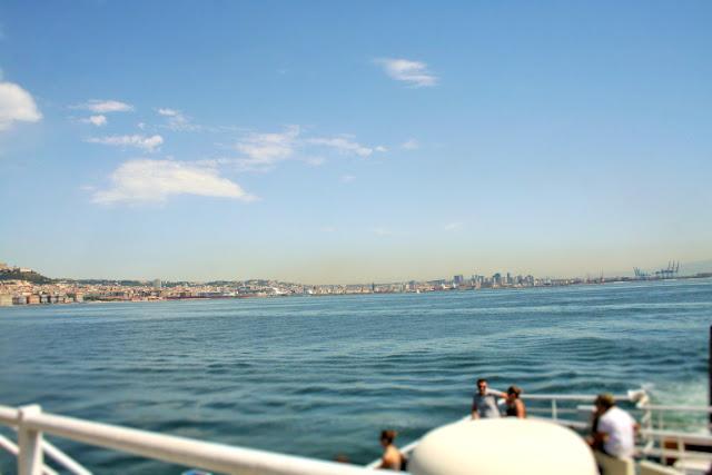 mare, acqua, turisti, cielo, nuvole, largo
