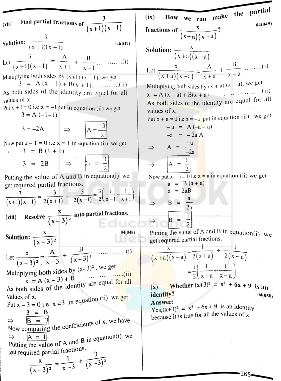 10th Maths Misc. Exercise 4 Solved Obectives 2
